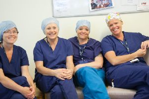 Operating staff at Conquest Hospital