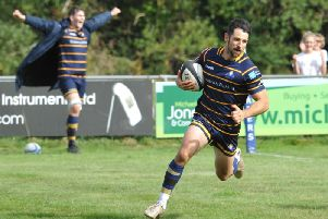 Matt McLean reached 100 National League tries in Worthing Raiders' win over Redruth. Picture by Stephen Goodger