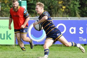 Jack Forrest bagged two tries in Raiders' thrilling win over Birmingham & Solihull. Picture by Stephen Goodger