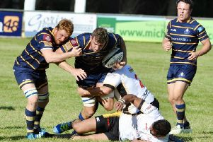 Skipper Liam Perkins got Worthing Raiders' opening try in the win over Birmingham & Solihull. Picture by Stephen Goodger