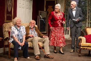 The play is set in a home for retired musicians and singers