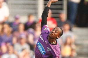 Jofra Archer in Big Bash action ... Picture: Daniel Pockett / Getty Images