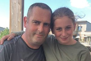 Andrew Connor with his daughter Charlie, who he described as 'his princess'