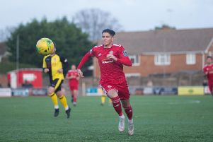 Ricky Aguiar scored for Worthing.