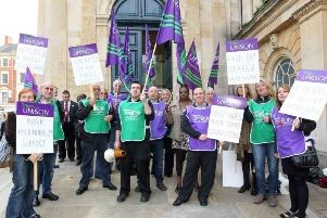 Northamptonshire County Council staff have not had a pay rise above 1 percent since before 2010.
