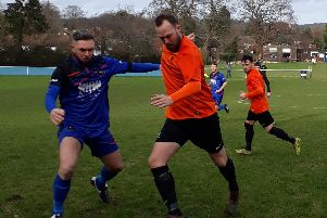 Adam Dine netted from the spot in Mile Oak's win over Midhurst & Easebourne. Picture: Karen Hilton