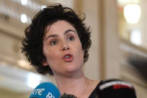Claire Hanna speaking previously to the media in the Great Hall, Stormont. 'Pic Colm Lenaghan/Pacemaker