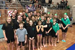 Worthing swimmers at the Brighton Dolphin development gala
