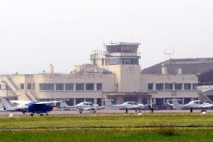 The terminal building at Shoreham Airport