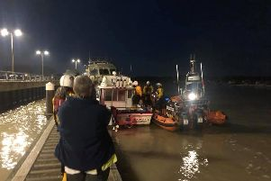 The RNLI secured the boats last night. Pic: Littlehampton RNLI