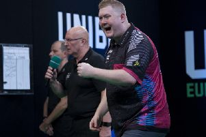 Ricky Evans hit a nine-dart leg on his way to qualifying for the Germans Darts Championship