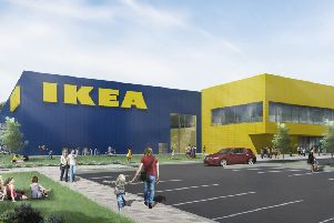 An artist's impression of how the new IKEA in Lancing could look