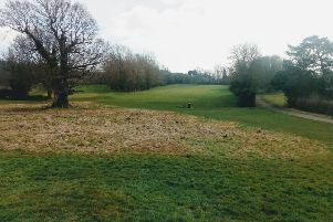 The former golf course at Newbold Comyn