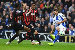 Alireza Jahanbakh put in one of his best performances in a Brighton shirt. Picture by PW Sporting Photography