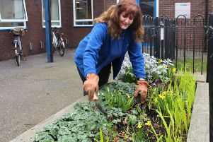 Jacqui says her apprenticeship in horticulture enables her to give back to the community