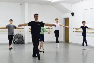 Classes are taught by Alex Cowie, a professional male ballet teacher and sports coach