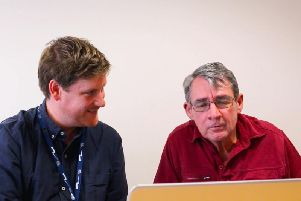 Phil Mitchell (right) with community referrer James Hardy