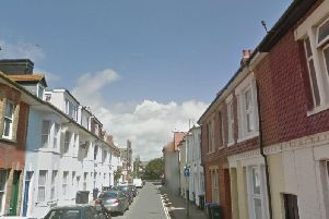 The attempted motorcycle theft happened in Thorn Road, Worthing. Picture: Google Street View
