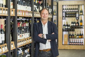 The CEO of Majestic Wine, in their Mayfair store. London, in 2015. Picture by Guy Bell
