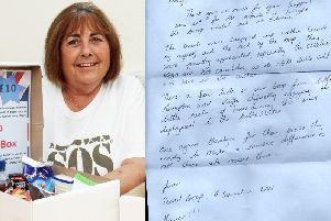 Penny Keen, and the letter she received from soldiers abroad