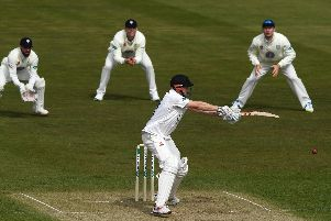 Luke Wells at the crease against Durham / Picture by Getty Images