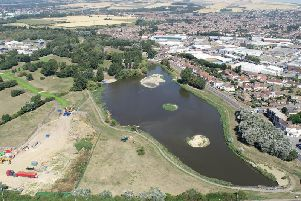 Brooklands Lake in East Worthing