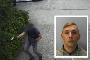 Footage released by the National Crime Agency shows armed officers chasing Kyle Wood (inset) before he is Tasered. Pictures and video: NCA