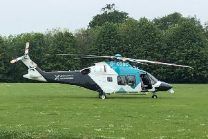 The air ambulance in Palatine Park