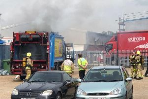 West Sussex Fire and Rescue Service said they were called to Easting Close in Worthing in 12.10pm to reports of the large vehicle on fire. Picture: Lee Taylor