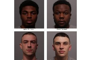 The four men who have been jailed.