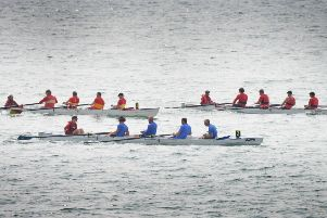 Boats on the water in the 2019 Hastings Regatta