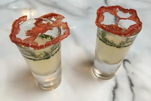 The gazpacho-style tomato consomm