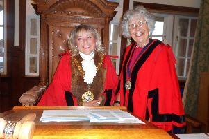 Bexhill's new mayor Kathy Harmer and deputy Lynn Langlands. Photo by Margaret Garcia