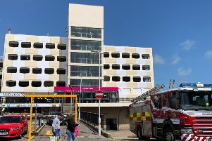 Crews at the Grafton multi-storey car park