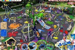 A 3D image showing the play equipment that will soon be installed at Northbrook Recreation Ground Play Area in Durrington.''Picture: Adur & Worthing Councils