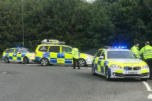 Police respond to the tragic accident on the A280