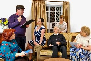 Wick Theatre Company's cast for Neighbourhood Watch, Susanne Crosby, Julian Batstone, Emily Dennett, Derek Fraser, Andrea Jones and Barbara Isaacs