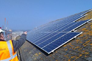 Solar panels installed on Portland House