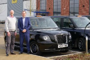 Mark Dale, managing director of Palmer Hargreaves, with Leighton King,'commercial director at LEVC.