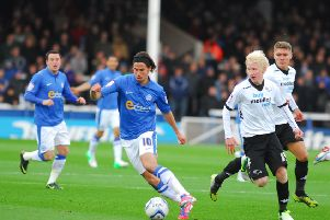 George Boyd in action for Posh.