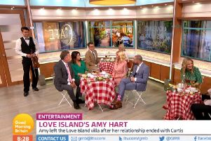 Piers Morgan and Amy Hart go on a date on Good Morning Britain. Picture: ITV