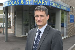 David Etherton, head teacher, at St Nicolas and St Mary CE Primary School in Shoreham. Picture: Derek Martin DM1507990a