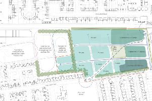 The architects drawing of the HMRC site redevelopment, which was shown at the consultation