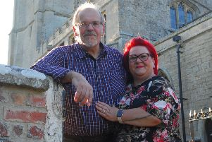Jezz Morley and Di Marshall at St Andrew's Church, Asgarby, where they are to be married. EMN-190716-003036001