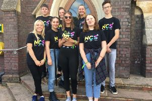 The NCS team who are hosting today's cake sale