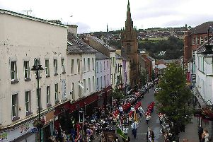 The Apprentice Boys parade making its way up Carlisle Road into the city centre on Saturday.