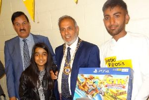 Samee Ul Hussain (right) at the fun day