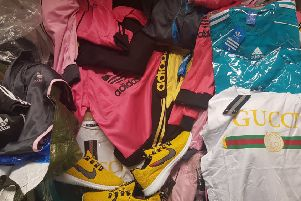Counterfeit goods seized at the car boot sale. Photo: Peterborough City Council