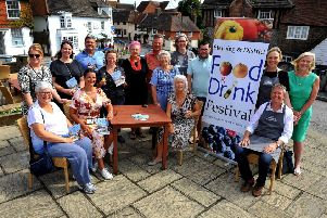 Organisers, supporters and charity representatives at the launch of the 2019 Steyning and District Food and Drink Festival. Picture: Steve Robards SR1921410