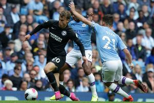Solly March in action against Manchester City (Getty)